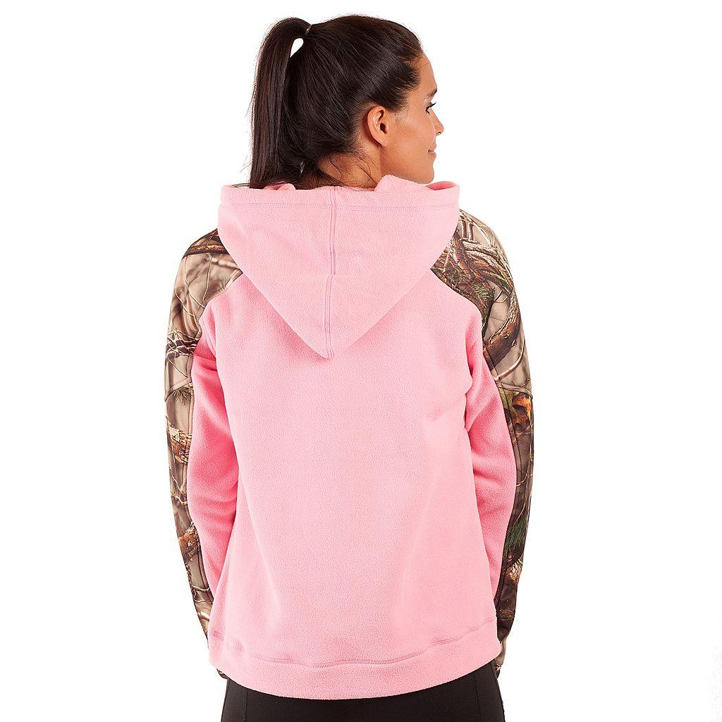 Huntworth 1/4-Zip Fleece Camouflage Hoodie - Women's