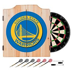 Golden State Warriors Wood Dart Cabinet Set