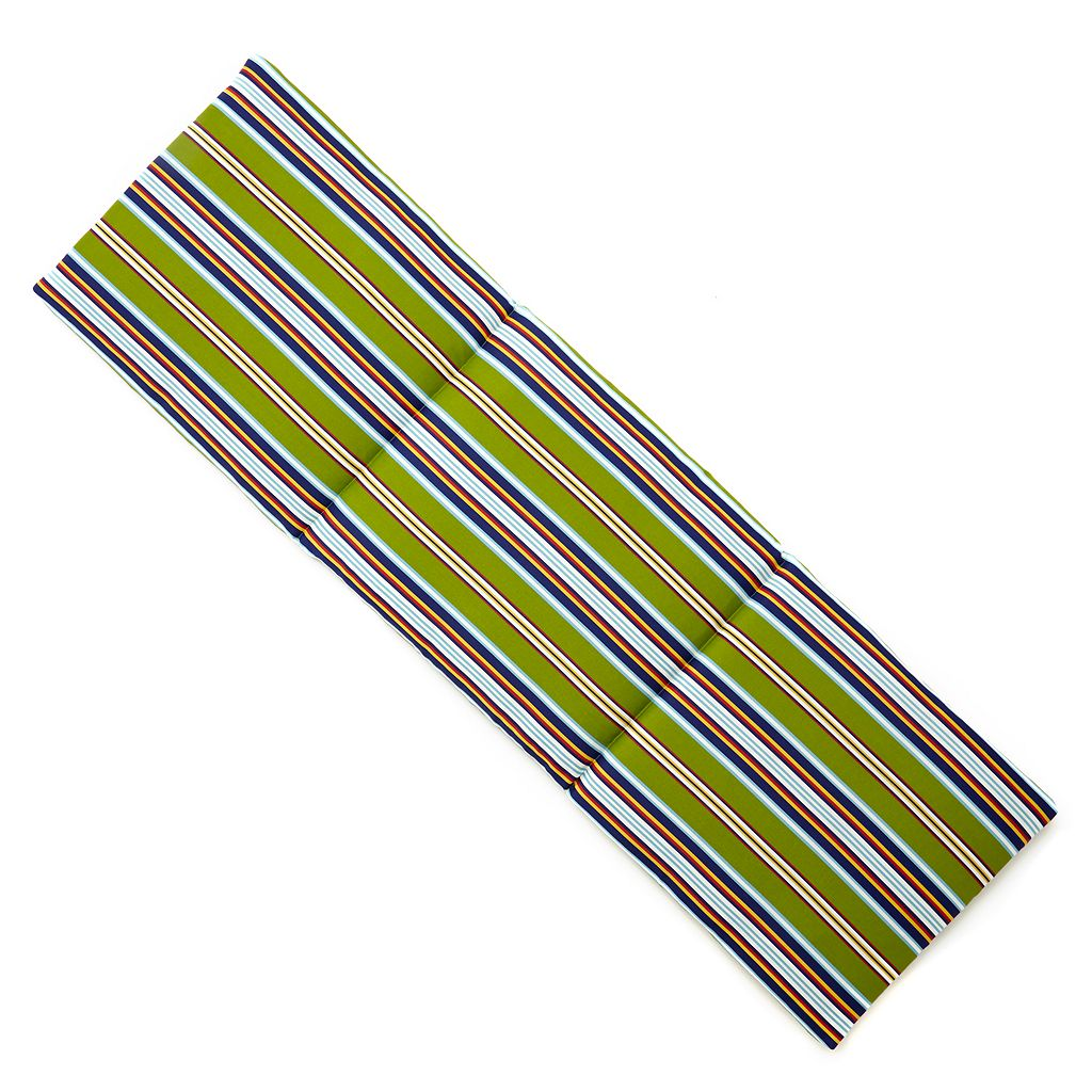 Edie Inc. Classic Stripe Indoor Outdoor Chaise Lounge Cushion
