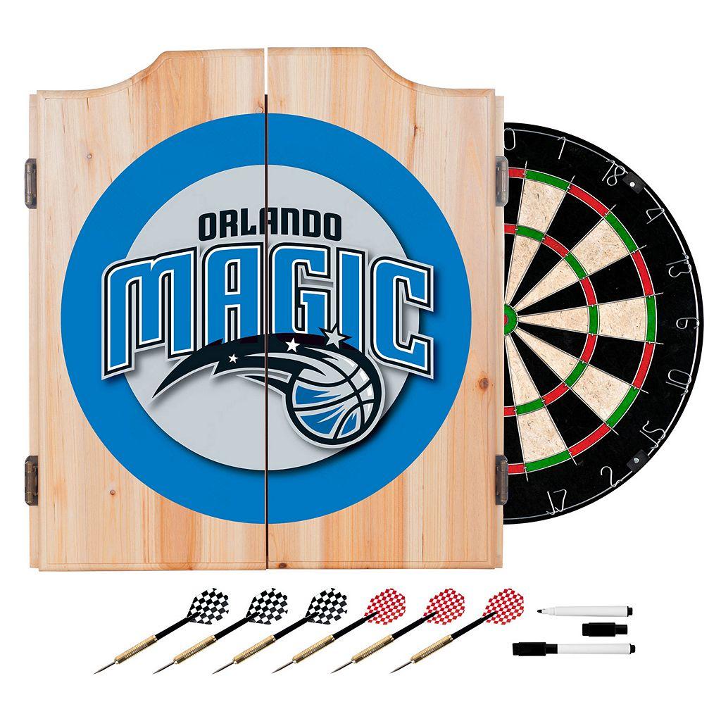 Orlando Magic Wood Dart Cabinet Set
