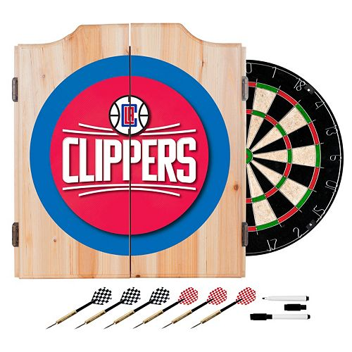 Los Angeles Clippers Wood Dart Cabinet Set
