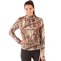 Huntworth 1/4-Zip Camouflage Pullover - Women's