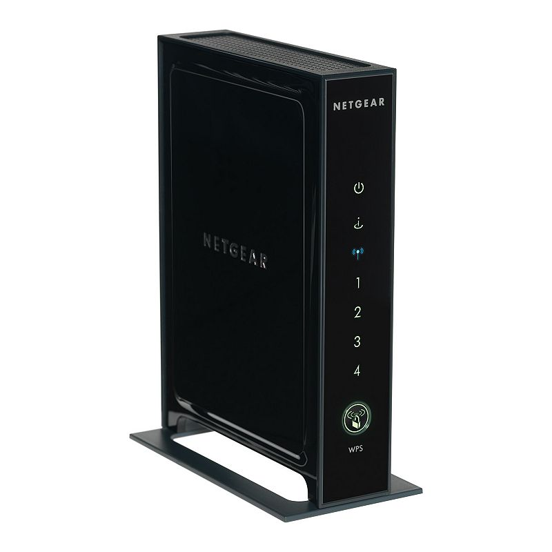 Netgear N300 Wireless Router, Black For faster downloads and gaming, you need this Netgear wireless router.Watch the product video here. : Router features data transfer rates up to 300 Mbps. WiFi range is ideal for medium-sized homes. Parental Controls let you keep your family's Internet experience safe. Netgear genie app helps you set up a home network. What's Included: WiFi router Stand Ethernet cable Power adapter Quick-install guide Free Genie app download Product Care: Manufacturer's 1-year limited warrantyFor warranty information please click hereFor information about the modified return policy, please click here : 7H x 5.1W x 2.1D 36-in. cord length Wireless: 802.11N, 300 Mbps Inputs: 1 internet Outputs: 4 Ethernet Model no. WNR2000-100NAS Size: One Size. Color: Black. Gender: Unisex. Age Group: Adult.