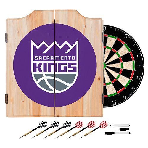 Sacramento Kings Wood Dart Cabinet Set