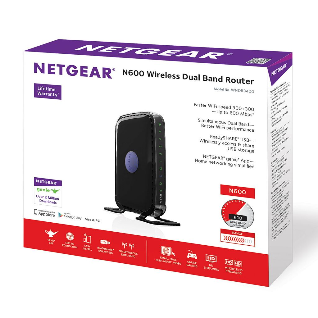 NETGEAR N600 Dual-Band Wireless Router