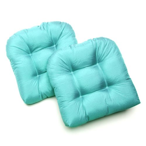 Edie Inc. Sonic Hexagon Indoor Outdoor 2-pk. Quilted Contour Chair Pads