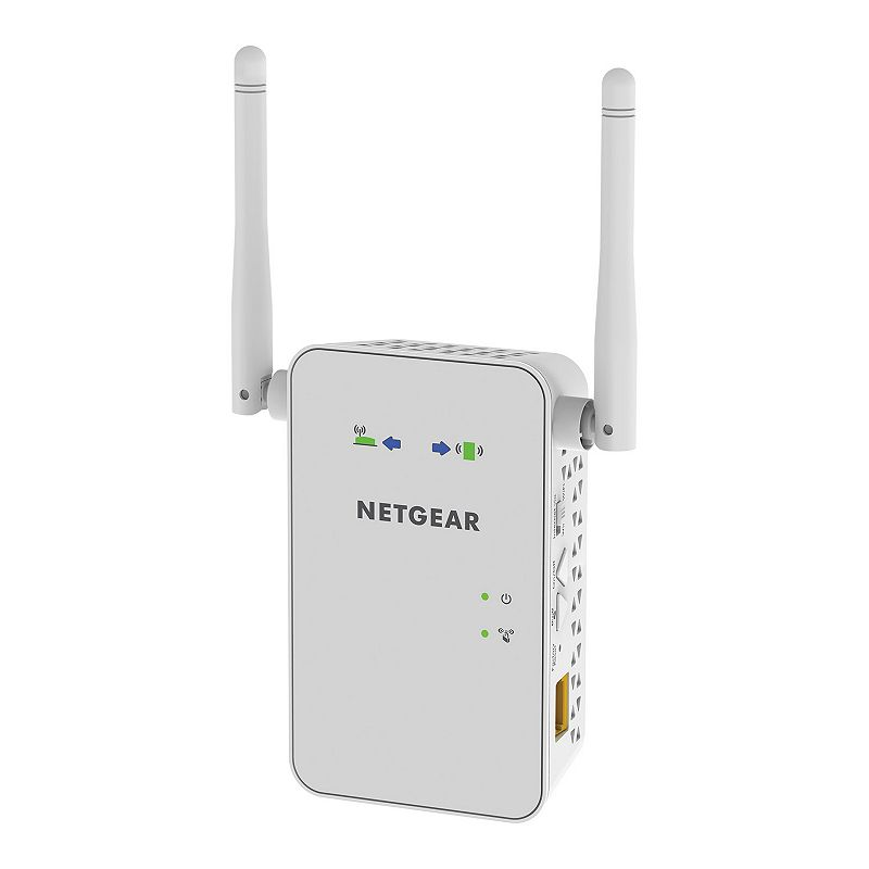 Netgear AC750 Wall-Mount WiFi Range Extender, White Increase wireless range and speed in your home with this Netgear WiFi booster.Watch the product video here. : WiFi extender amplifies wireless coverage in your home. Wall-mounted device works with 802.11AC and b/g/n WiFi routers. Dual-band WiFi supports data transfer rates up to 750 Mbps. External antennas ensure better performance. What's Included: WiFi range extender Installation guide Product Care: Manufacturer's 1-year limited warrantyFor warranty information please click hereFor information about the modified return policy, please click here : 4.8H x 2.91W x 1.5D Wireless: 802.11AC, 750 Mbps Outputs: 1 Gigabit Ethernet Model no. EX6100-100NAS Size: One Size. Color: White. Gender: Unisex. Age Group: Adult.