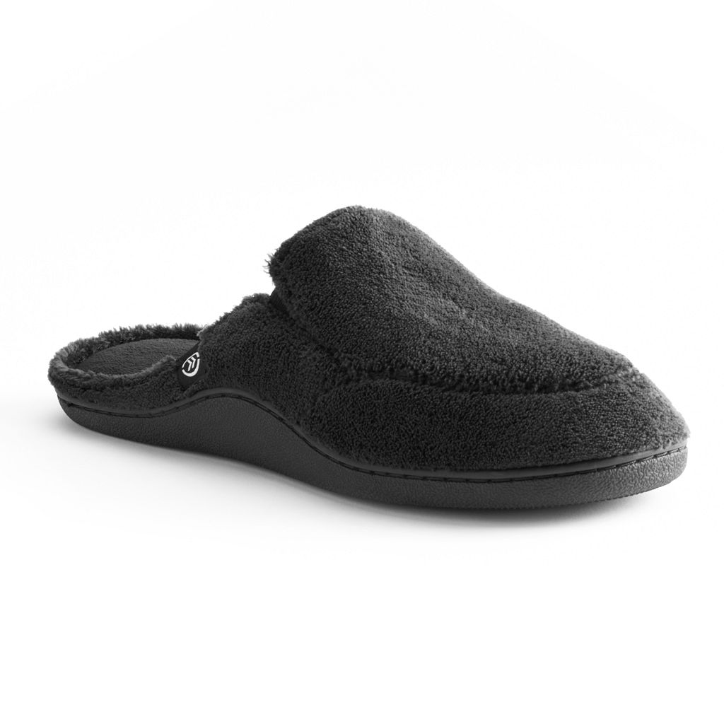 isotoner Men's Microterry Clog Slippers