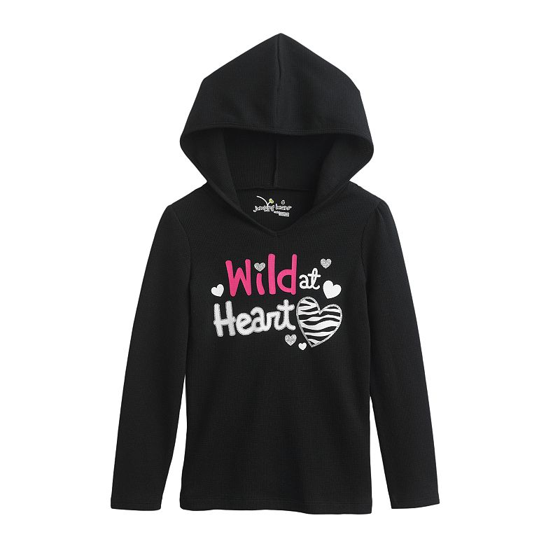 Jumping Beans® Heart Thermal Hoodie - Girls 4-7