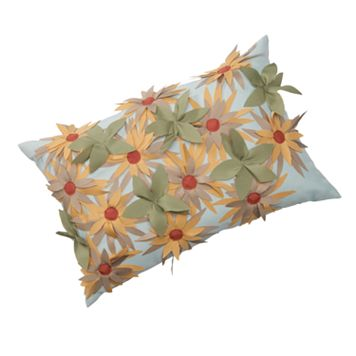 Edie Inc. Sunflower Laser-Cut Indoor Outdoor Decorative Pillow