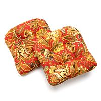 Edie Inc. Valbella Indoor Outdoor 2-pk. Contour Chair Pads