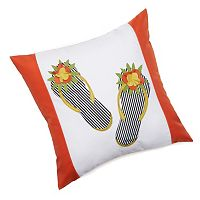 Edie, Inc. Flip-Flop Laser-Cut Indoor Outdoor Decorative Pillow