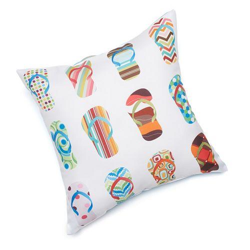 Edie Inc. Flip-Flop Indoor Outdoor Decorative Pillow