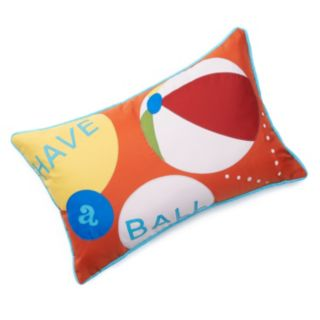 "Edie Inc. ""Have a Ball"" Laser-Cut Indoor Outdoor Decorative Pillow"