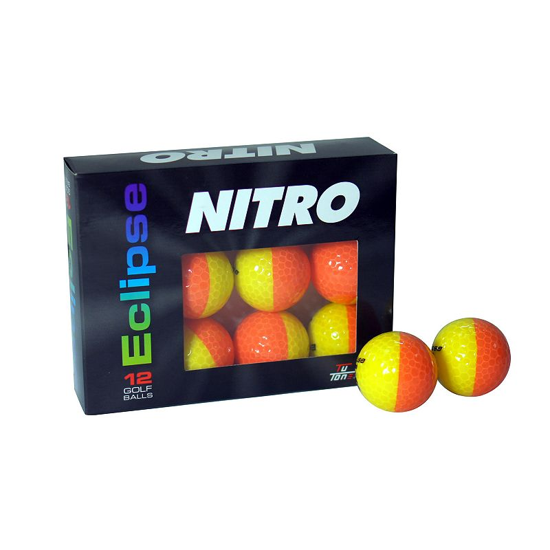 Nitro Eclipse Golf Balls 12-Ball Pack Pink/White