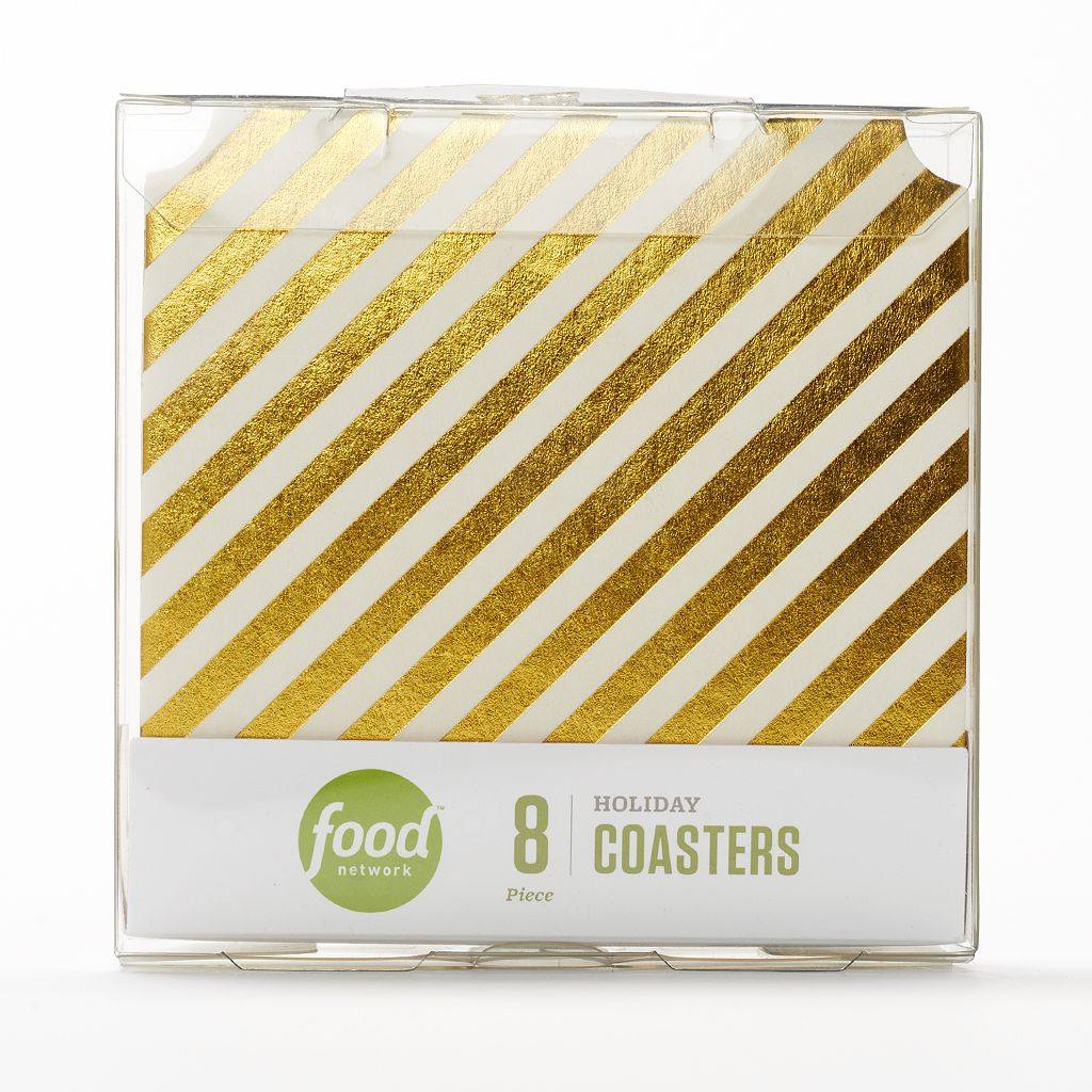 Food Network™ 8-pc. Cocktail Recipe Holiday Pub Coaster Set