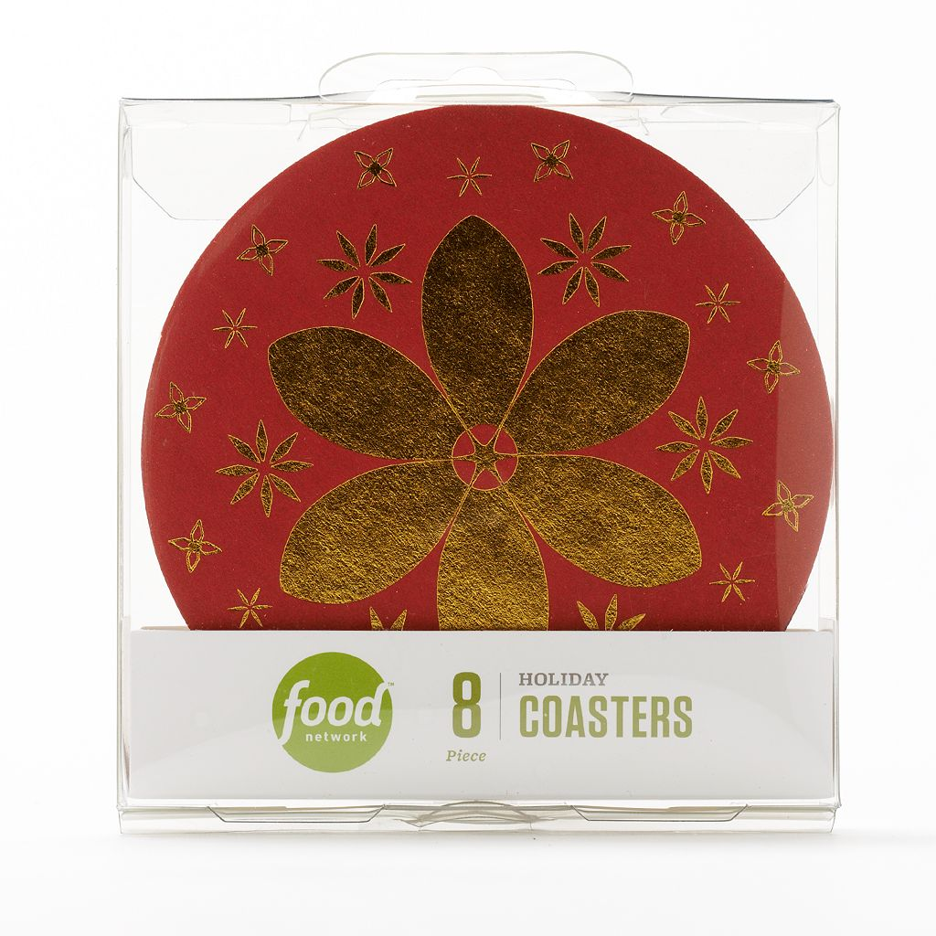 Food Network™ 8-pc. Holiday Pub Coaster Set