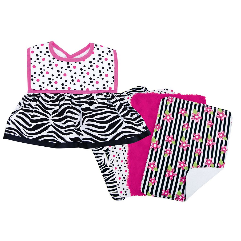 Trend Lab 5-pc. Printed Dress-Up Bib & Burp Cloth Set