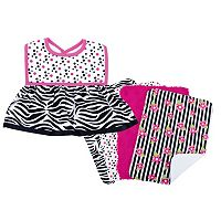 Trend Lab 5 pc Printed Dress-Up Bib & Burp Cloth Set