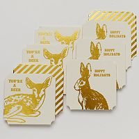 Food Network™ 8 pc Hoppy Dear Holiday Pub Coaster Set