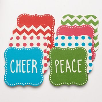 Food Network™ 8-pc. Bright Words Holiday Pub Coaster Set