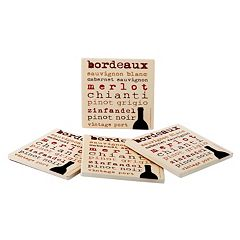 Food Network™ 4-pc. Wine Typography Coaster Set