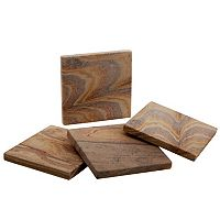 Food Network™ 4 pc Rainbow Sandstone Coaster Set