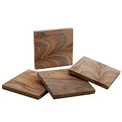 Food Network™ 4-pc. Rainbow Sandstone Coaster Set