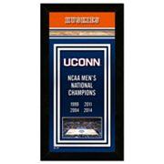 UConn Huskies 2014 NCAA Men's Basketball Champions 14.5' x 27.5' Framed Banner