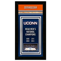 UConn Huskies 2014 NCAA Men's Basketball Champions 14.5' x 27.5' Framed Banner
