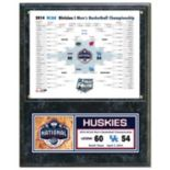 "UConn Huskies 2014 NCAA Men's Basketball Champions 12"" x 15"" Plaque"