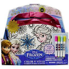 Disney Frozen Elsa & Anna Color & Style Purse Set