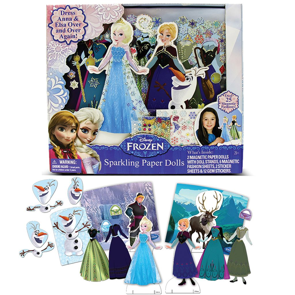 Disney Frozen Elsa & Anna Magnetic Paper Doll Set