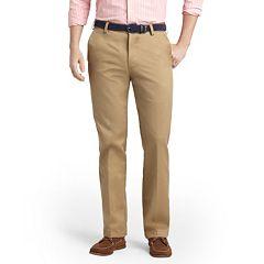 Mens Beig/khaki IZOD Flat-Front Pants - Bottoms, Clothing | Kohl's