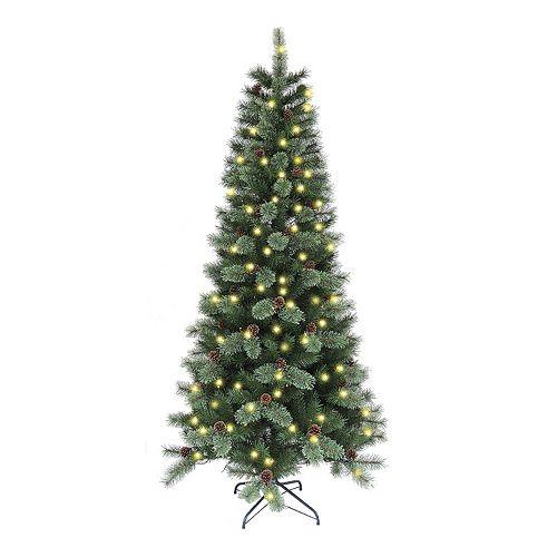Cashmere Pre-Lit Artificial Christmas Tree - St. Nicholas Square® 7-ft. Cashmere Pre-Lit Artificial Christmas Tree