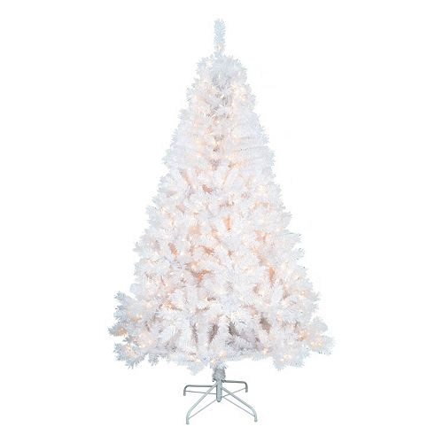 sports shoes 4d8f5 285fc St. Nicholas Square® 7-ft. White Pre-Lit Artificial Christmas Tree