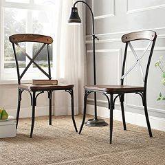 HomeVance Glencoe 2 pc Side Chair Set