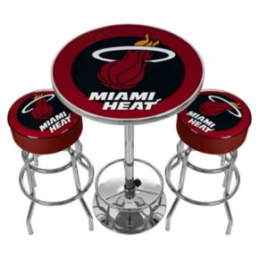 Miami Heat Ultimate Gameroom Combo 3-pc. Pub Table and Stool Set