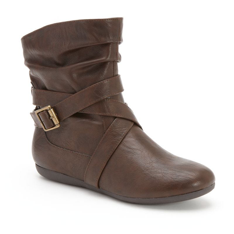 brown buckle ankle boots kohl s