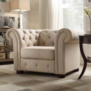 HomeVance Vanderbilt Tufted Arm Chair