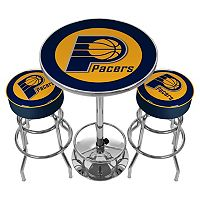Indiana Pacers Ultimate Gameroom Combo 3 pc Pub Table & Stool Set