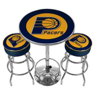 Indiana Pacers Ultimate Gameroom Combo 3-pc. Pub Table and Stool Set