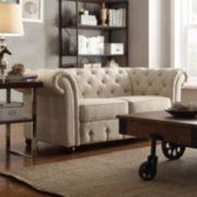 HomeVance Vanderbilt Tufted Love Seat