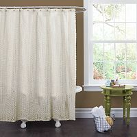 Lush Decor Rosely Fabric Shower Curtain
