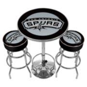 San Antonio Spurs Ultimate Gameroom Combo 3-pc. Pub Table & Stool Set