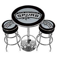 San Antonio Spurs Ultimate Gameroom Combo 3 pc Pub Table & Stool Set
