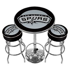 San Antonio Spurs Ultimate Gameroom Combo 3 pc Pub Table & Stool Set