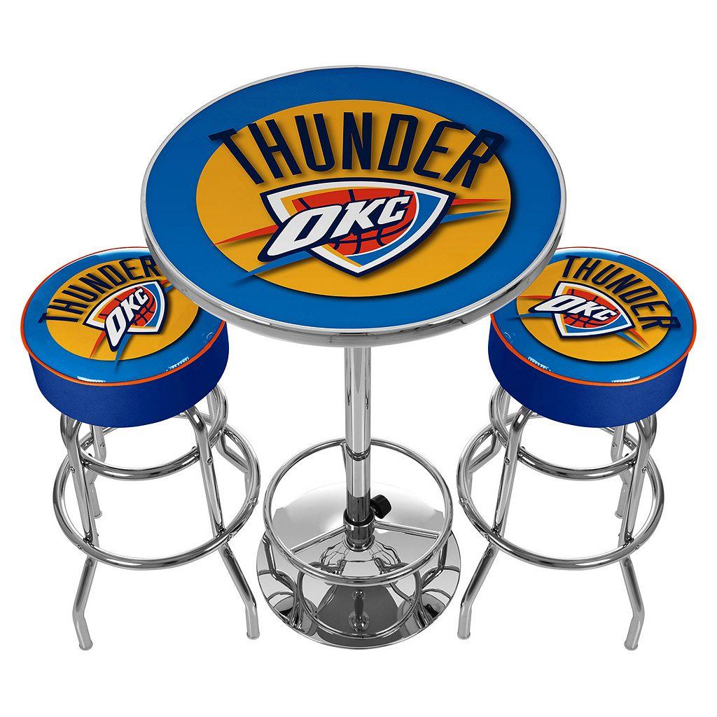 Oklahoma City Thunder Ultimate Gameroom Combo 3-pc. Pub Table & Stool Set