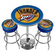 Oklahoma City Thunder Ultimate Gameroom Combo 3 pc Pub Table & Stool Set