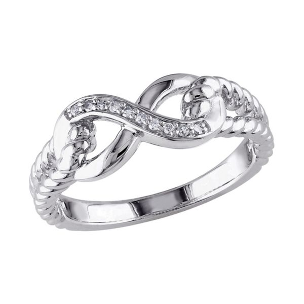 Sterling Silver Diamond Accent Infinity Ring